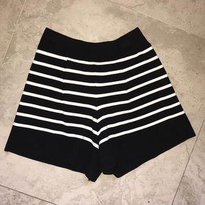 Zara Knit Striped Shorts